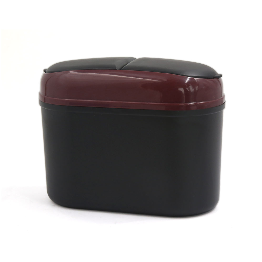 Office Home Car Trash Rubbish Can Garbage Dust Case Holder Bin Burgundy Black