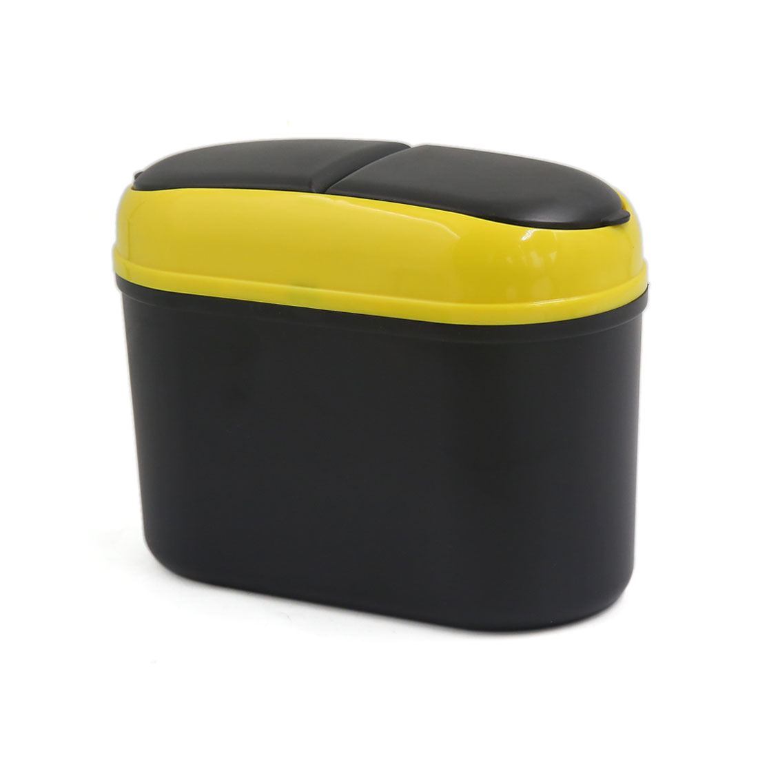 Car Trash Rubbish Can Garbage Dust Dustbin Box Case Holder Bin Hook Black Yellow