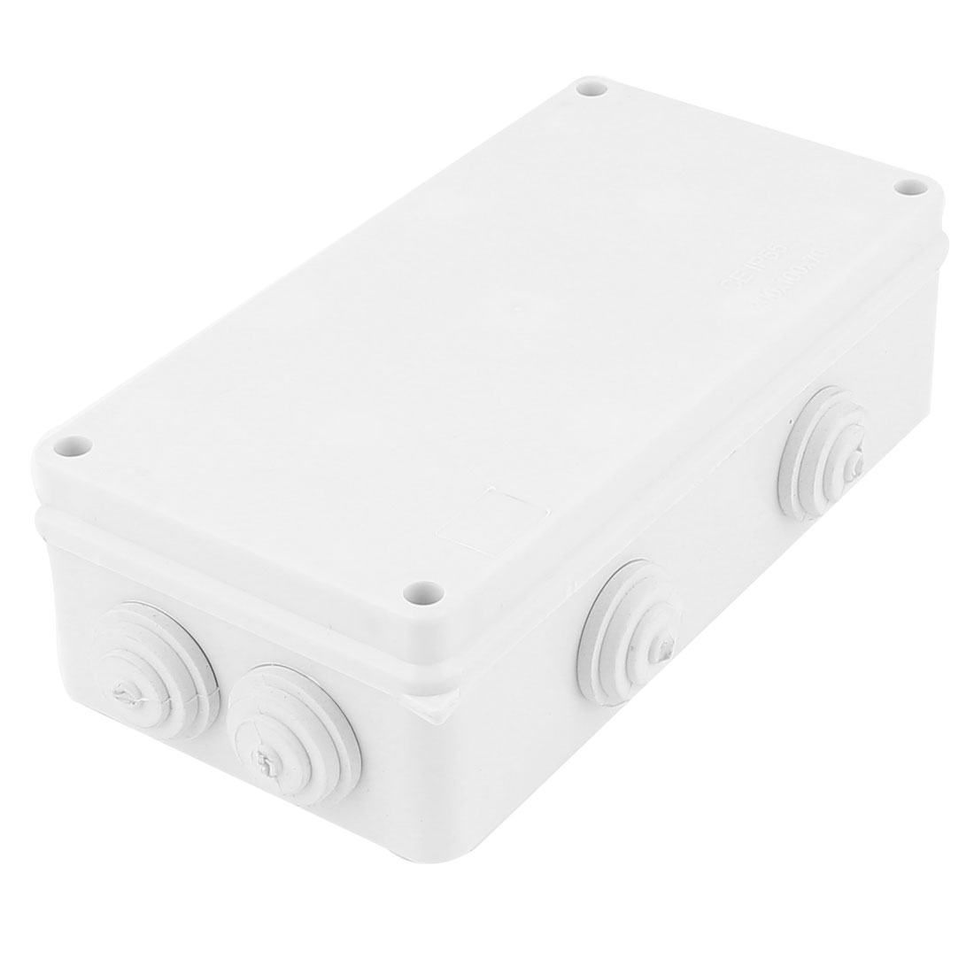 White ABS Dustproof IP65 Enclosure Square Junction Box 200x100x70mm