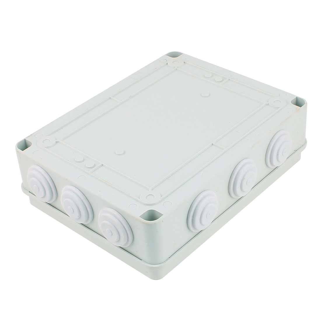 White ABS IP65 Dustproof IP65 Enclosure Square Junction Box 255x200x80mm
