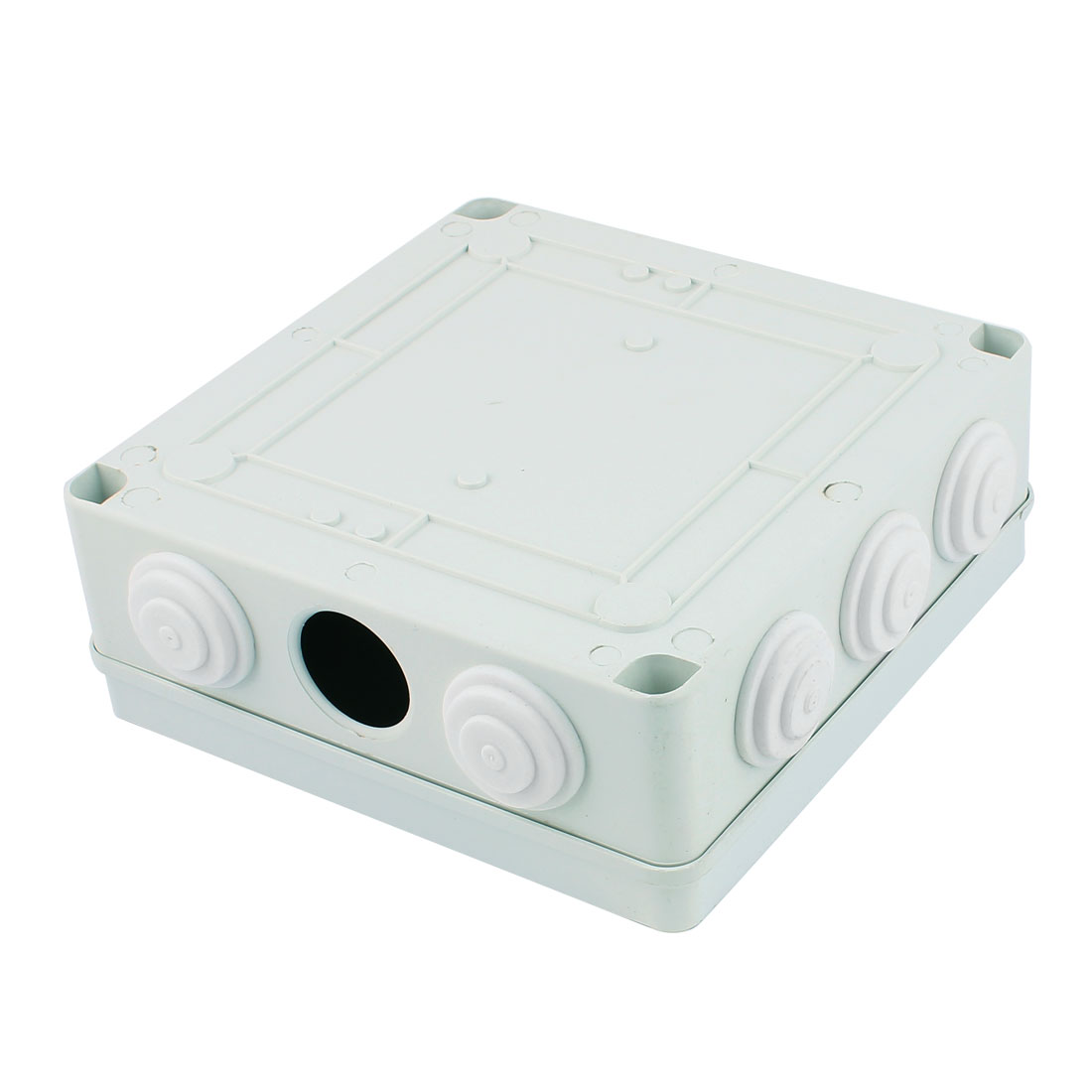 White ABS Dustproof IP65 Enclosure Square Junction Box 200x200x80mm