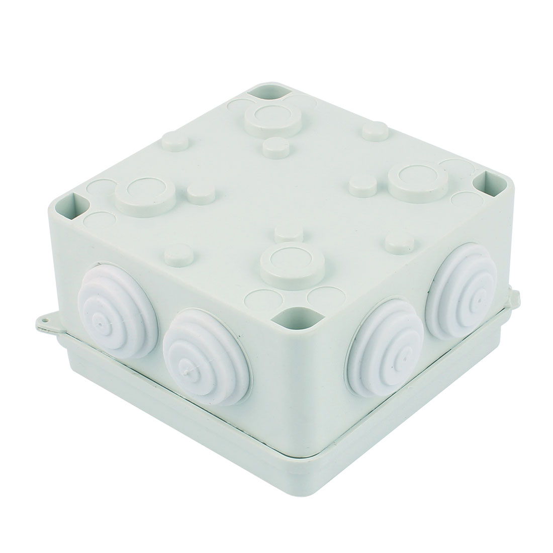 White ABS 7 Cable Entries Dustproof IP65 Square Junction Box 100x100x70mm