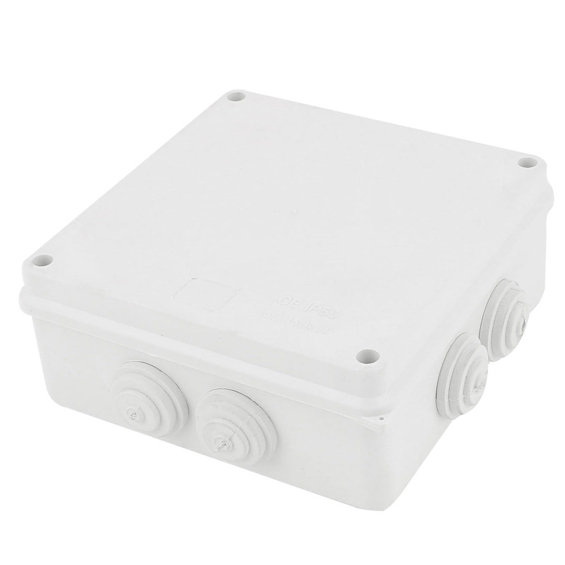 White ABS Dustproof IP55 Enclosure Square Junction Box 150x150x70mm