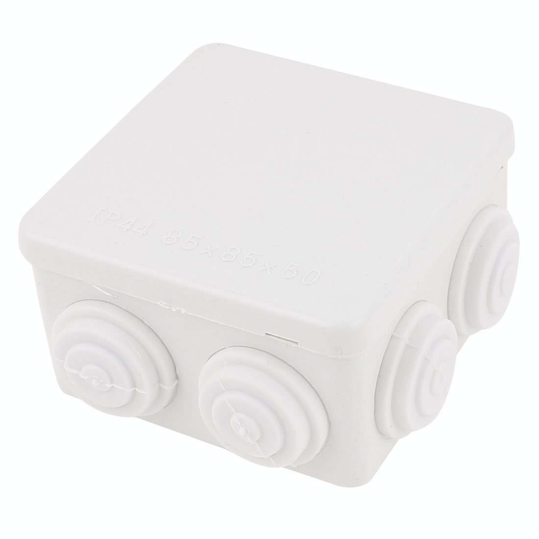 White ABS Dustproof IP44 Enclosure Square Junction Box 85x85x50mm