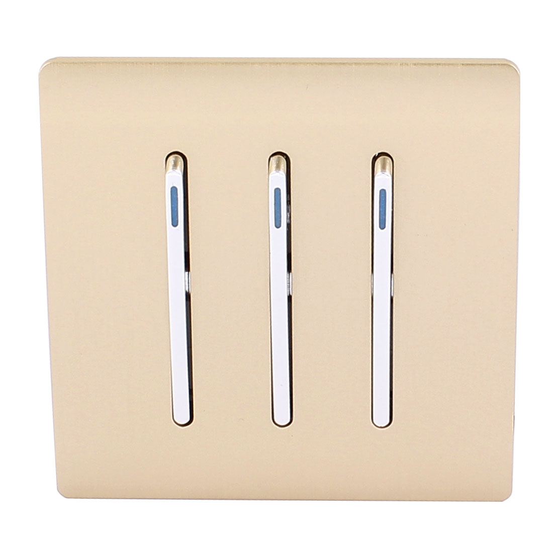 AC 250V 10A 3 Gang 2 way On/Off Wall Mounting Flame Retardant PC Switch Gold