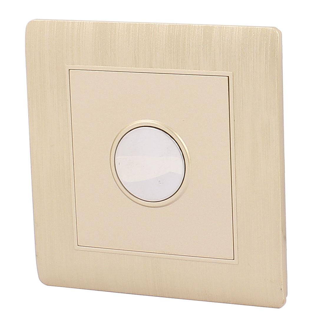 AC 180V-250V Touching Sensor Switch Flame Retardant PC Time Delay Switch Gold