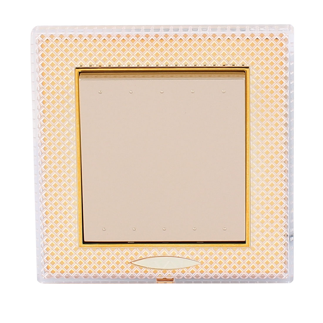 AC 250V 10A 1 Gang 2 way On/Off Press Button Flame Retardant PC Wall Switch Gold