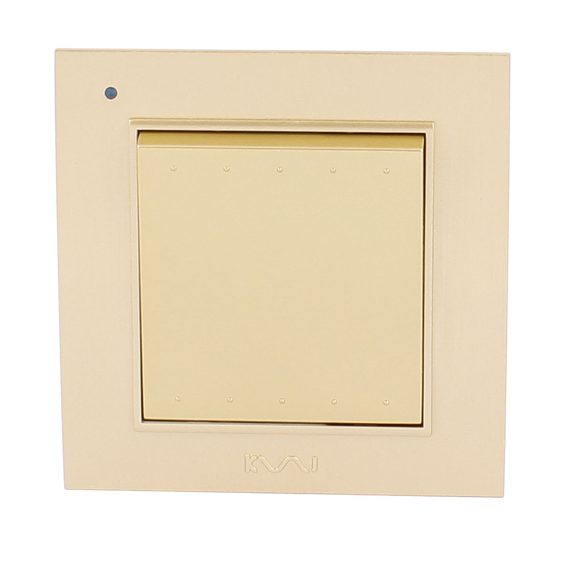 AC 250V 10A 1 Gang 1 way On/Off Press Button Plastic Housing Wall Switch Gold