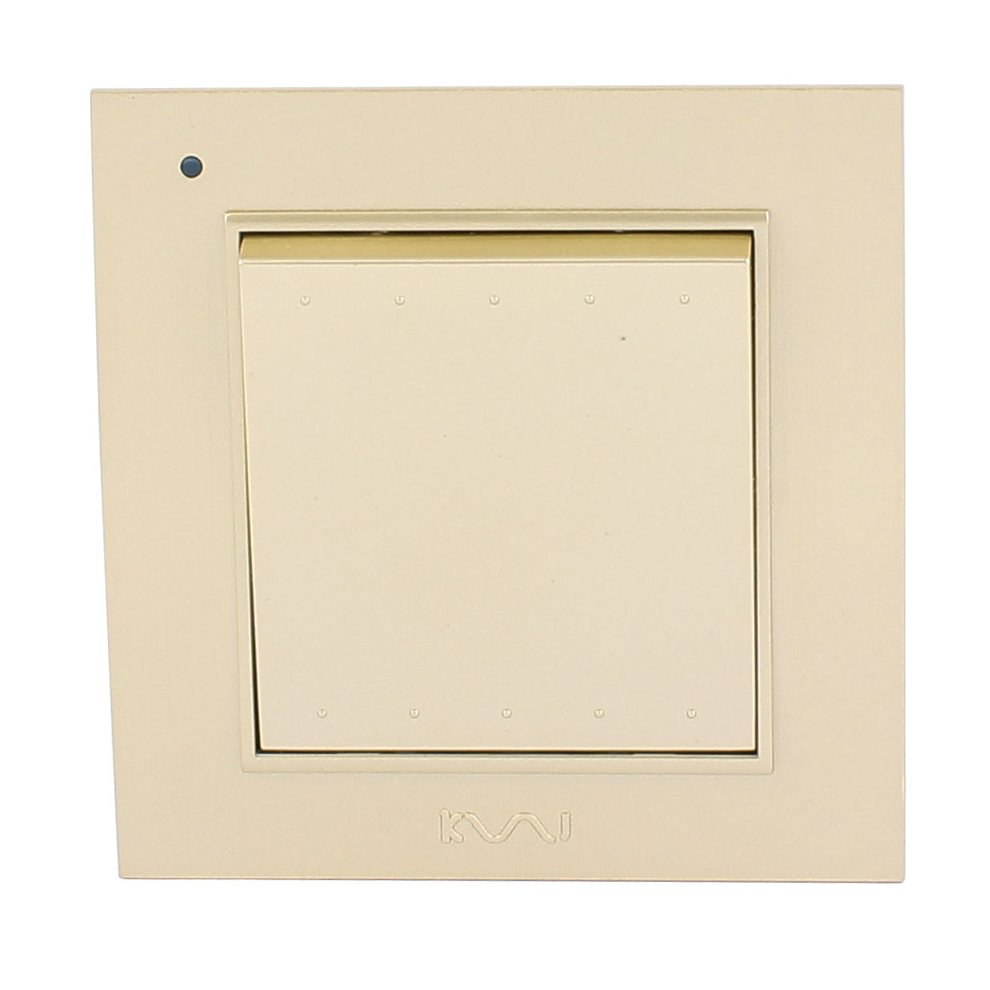 AC 250V 10A 1 Gang 2 way On/Off Press Button Plastic Housing Wall Switch Gold