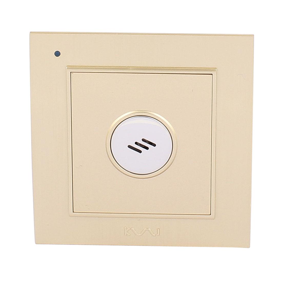 AC 180V-250V Sound Sensor Switch Energy Saving Time Delay Switch Gold