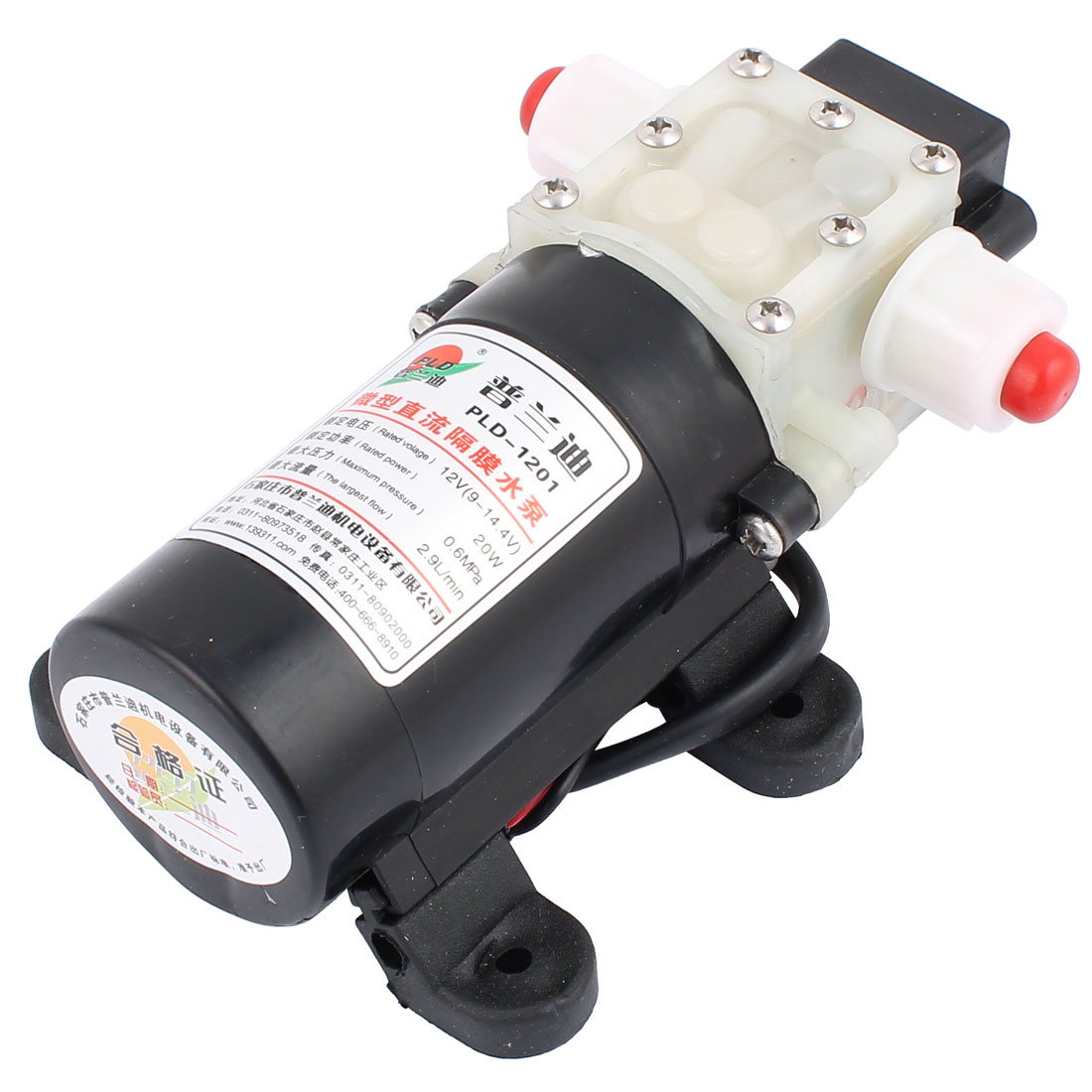 DC 12V 20W Micro Motor Pump 10mm Thread Outlet Inlet Diaphragm Pump