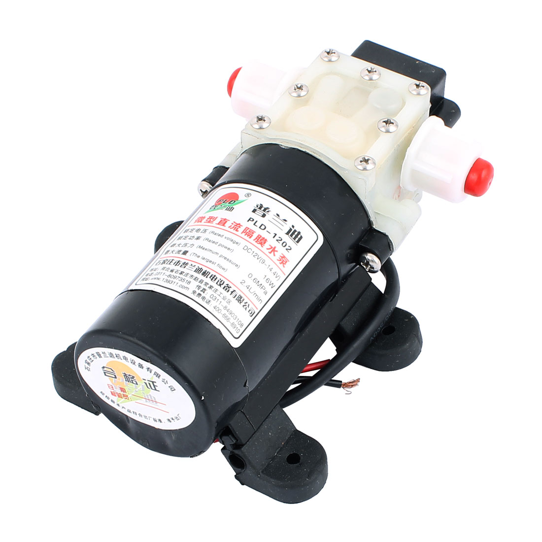 DC 12V 16W Micro Motor Pump 10mm Thread Outlet Inlet Diaphragm Pump
