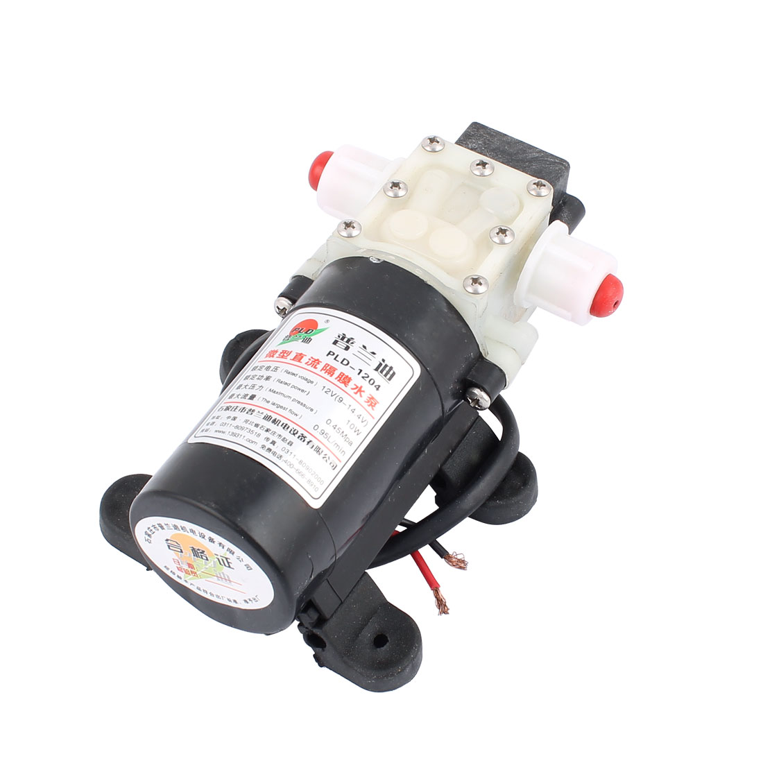 DC 12V 10W Micro Motor Pump 10mm Thread Outlet Inlet Diaphragm Pump