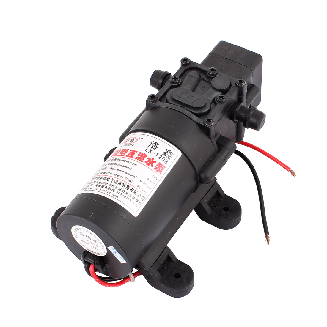DC 12V 45W 4L/Min Max Flow Micro Motor Diaphragm Pump For Household