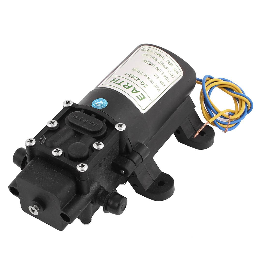 DC 12V Motor Electric High Pressure Micro Diaphragm Self Priming Water Pump Reflux