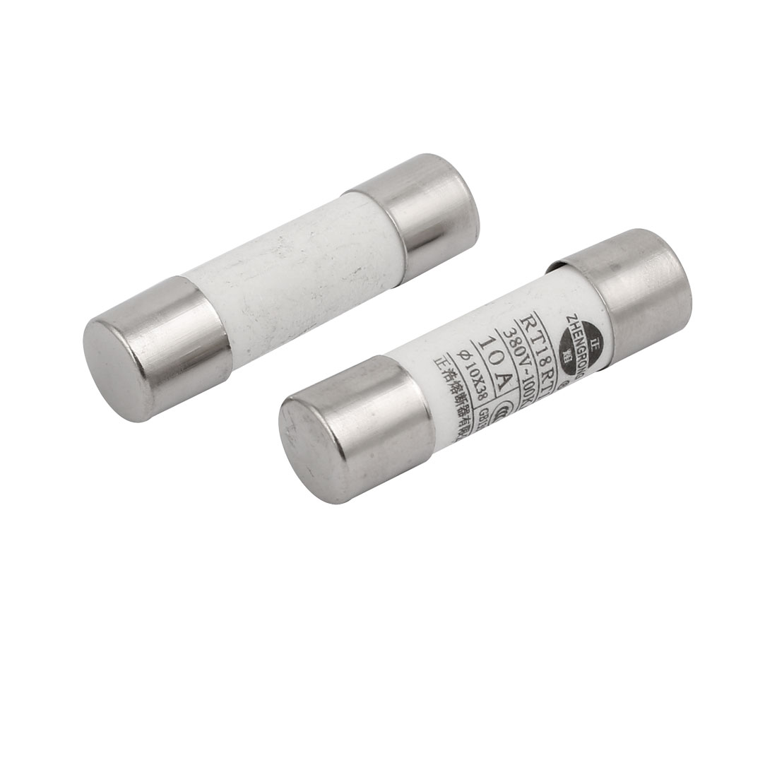 2pcs AC 380V 10A RT18 10x37mm Fast Blow Cylindrical Ceramic Tube Fuses