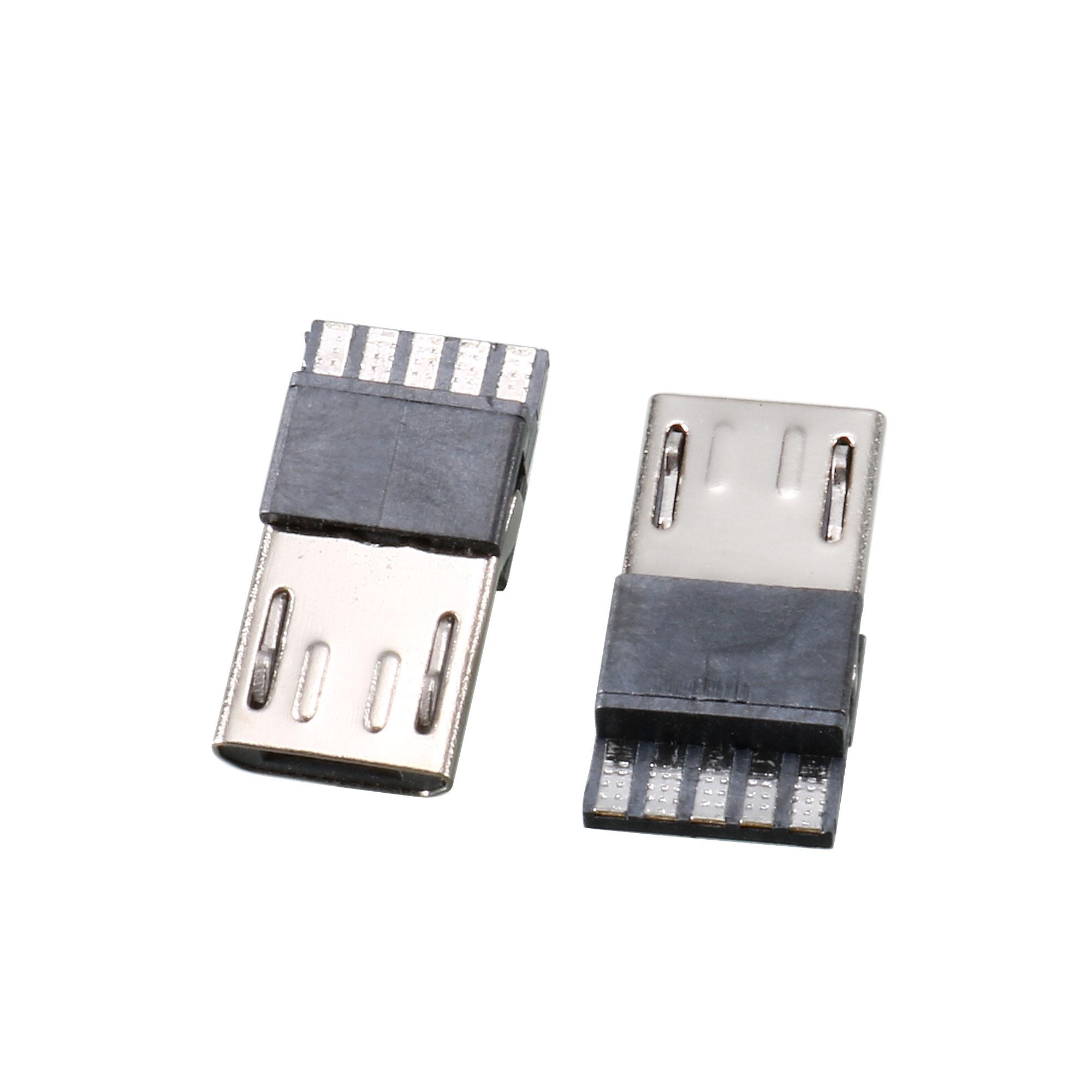 10 Pcs Micro USB Male Type B 5 Terminal Jack Port Solder Connector