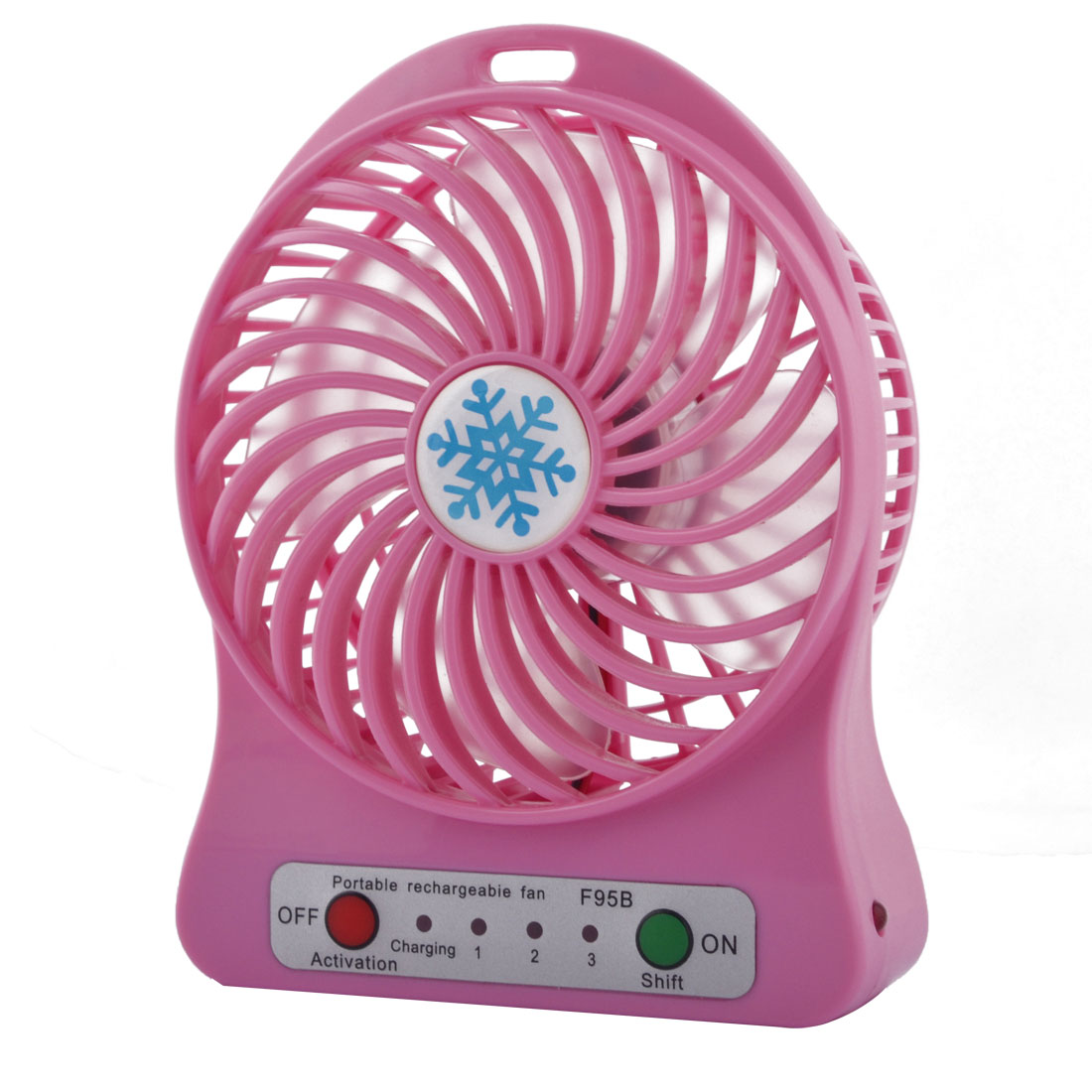 Computer Notebook Desk Mini Rechargeable USB Battery Powered Cooling Fan Pink