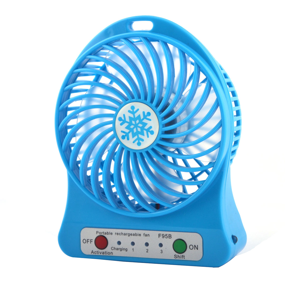 Computer Notebook Desk Mini Rechargeable USB Battery Powered Cooling Fan Blue