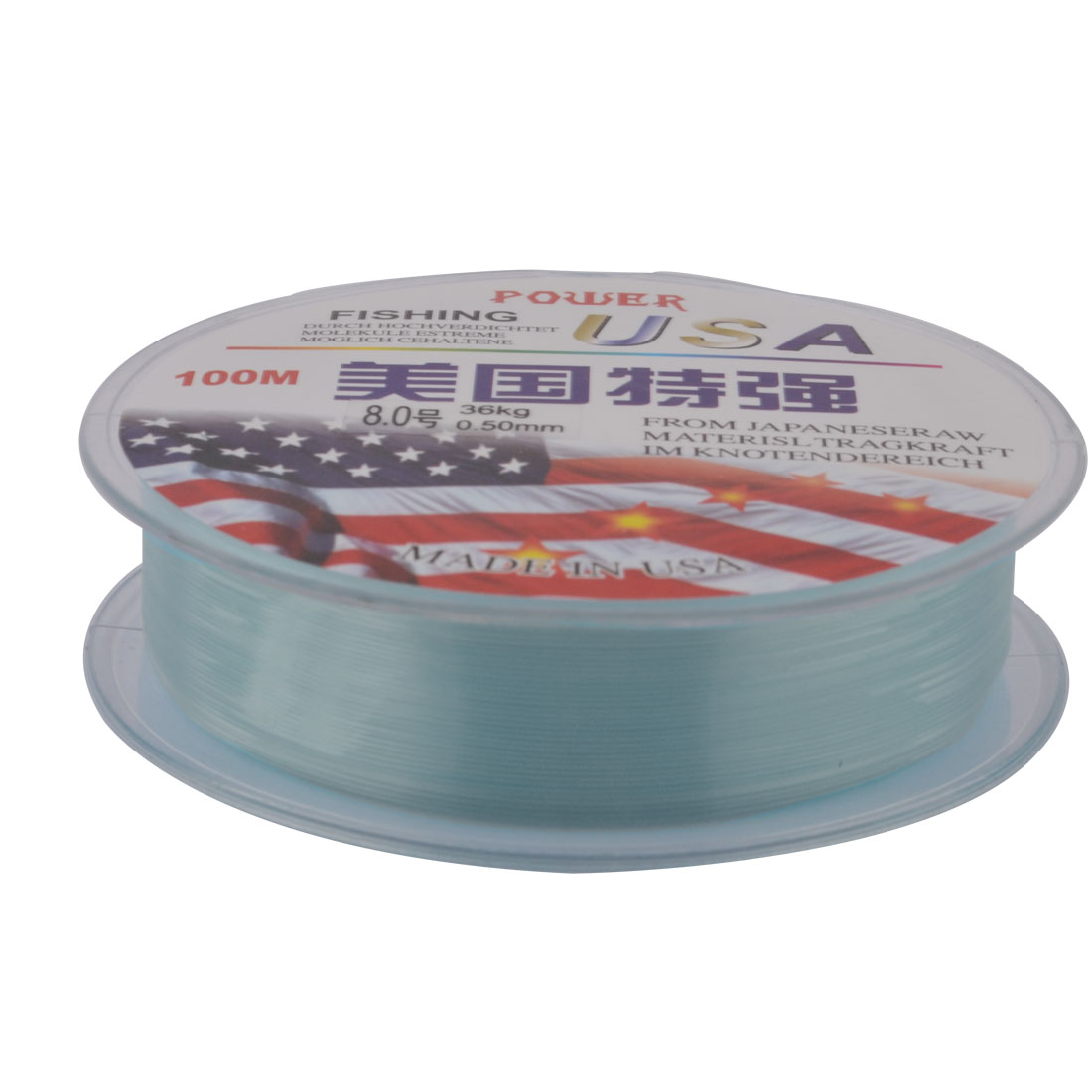 Thread 36Kg Braided 0.5mm Dia Angling Tackle Fishing Line String Blue 100 Meter