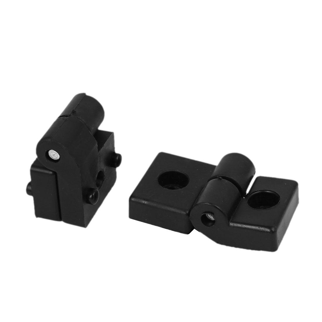 Home Office Plastic 270 Degree Door Bearing Butt Hinge Black 65mmx32mmx20mm 2pcs