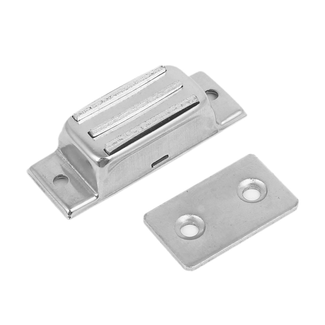 Cabinet Stainless Steel Magnetic Catch Door Latch Silver Tone 50mm x 20mm x 15mm