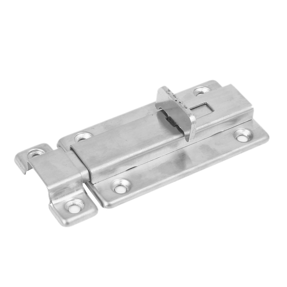 90mmx40mmx10mm Door Security Lock Latch Barrel Bolt Hasp Stapler Silver Tone