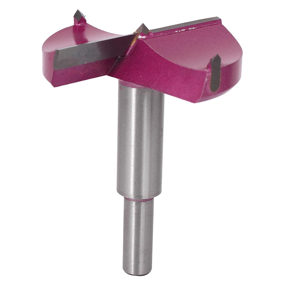 65mm Dia 87.5mm Length Carbide Tip Wood Cutting Hole Saw Hinge Boring Drill Bit