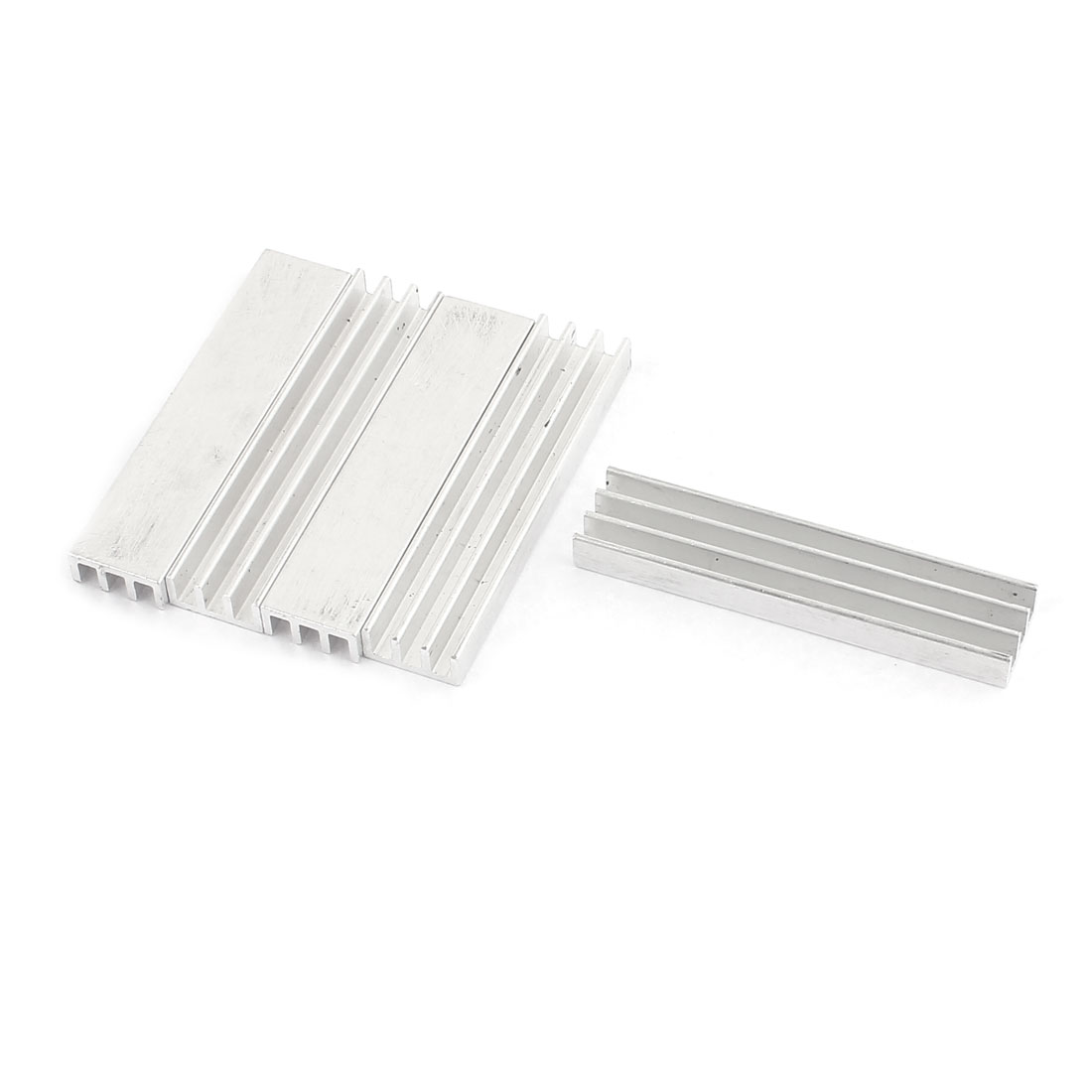 5 Pcs Aluminium 49 x 11 x 5mm Heat Sink Radiator Cooling Fin Silver Tone for CPU