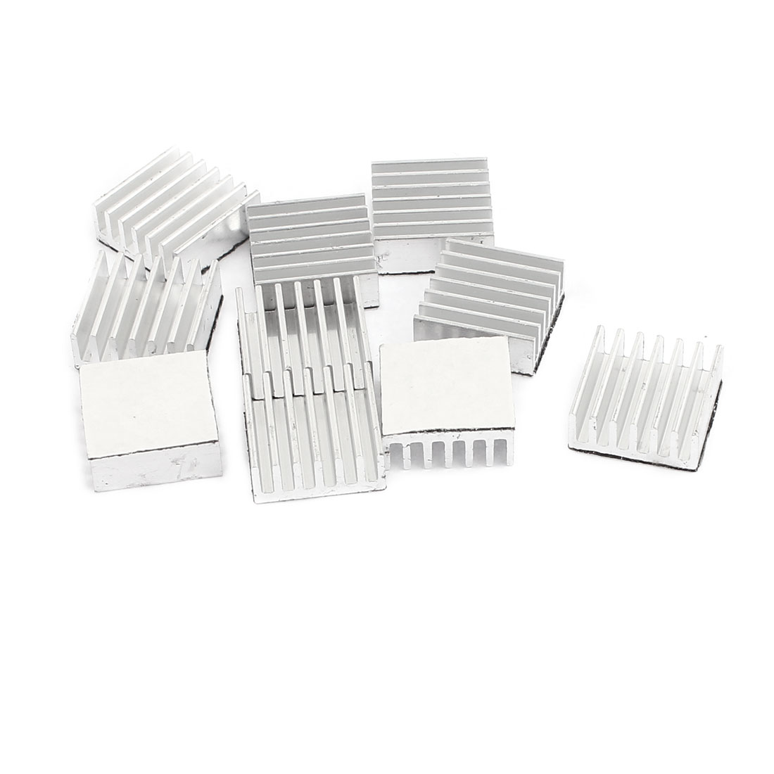 10Pcs 14 x 14 x 6mm Aluminium Heat Sink Radiator Fin Heatsink Silver Tone for IC