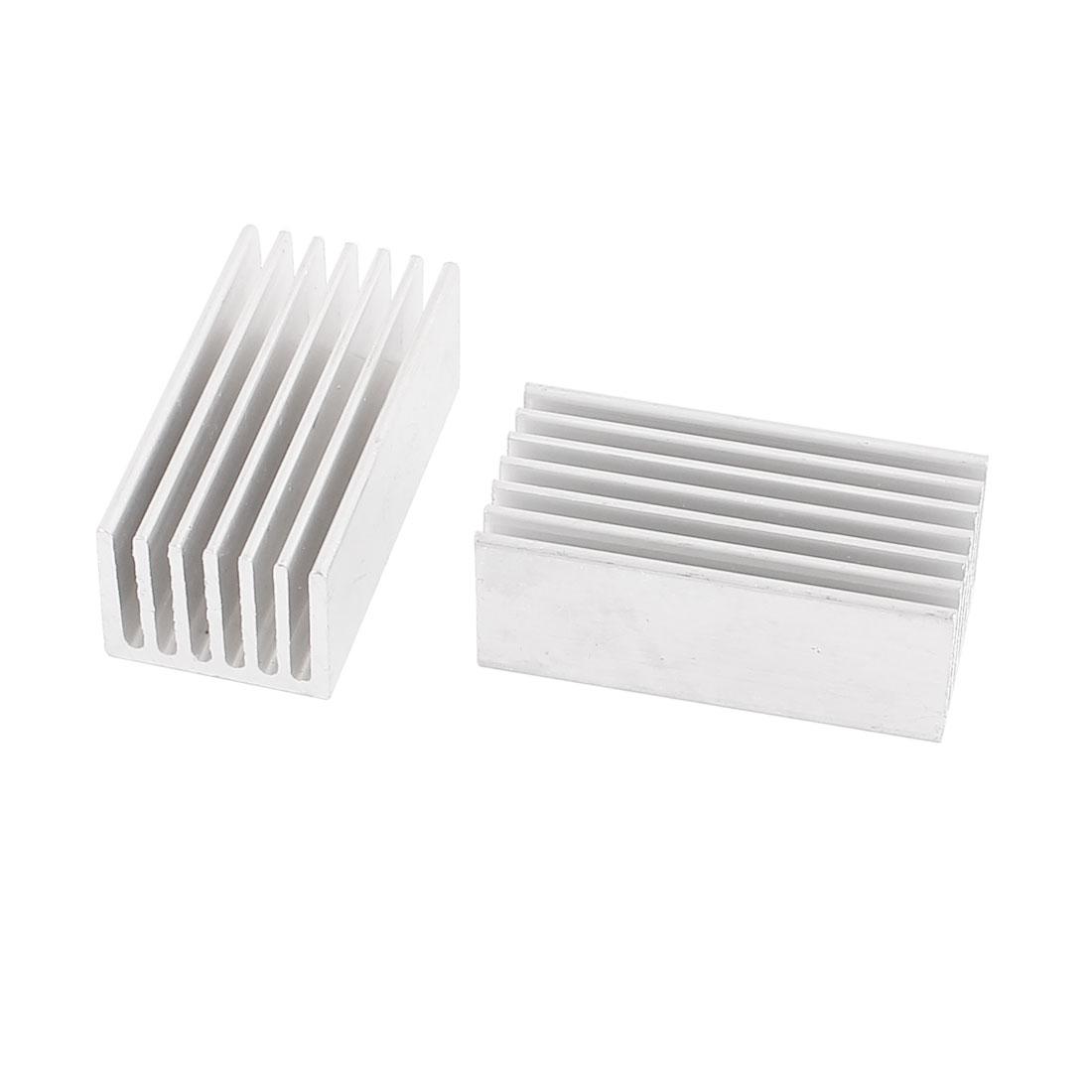 Aluminium Silver Tone 40 x 20 x 15mm IC Heatsink Heat Diffuse Cooling Fin 2 Pcs