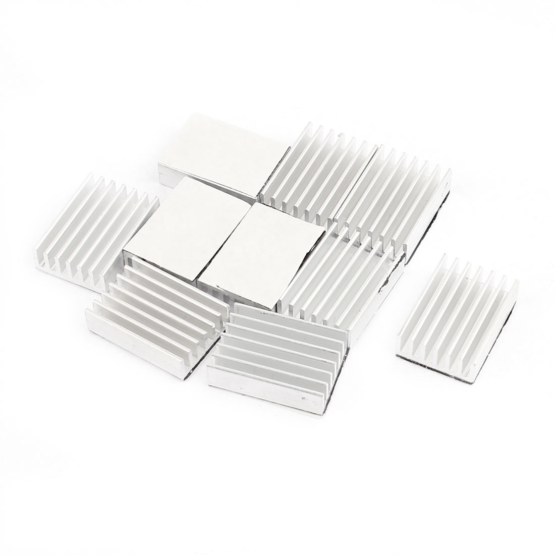 10 Pcs 20 x 14.5 x 5.5mm Aluminium Heat Sink Radiator Fin Heatsink Silver Tone