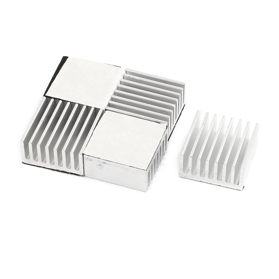5 Pcs Aluminum Radiator Heatsink Cooling Fin Silver Tone 20 x 20 x 10mm for CPU