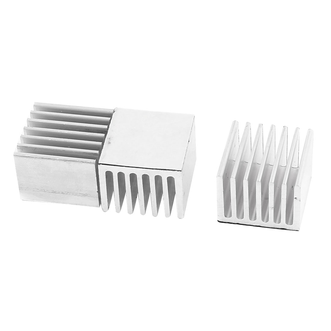 3 Pcs 15 x 20 x 20mm Self-Adhesive Aluminum Heatsink for CPU IC Cooling