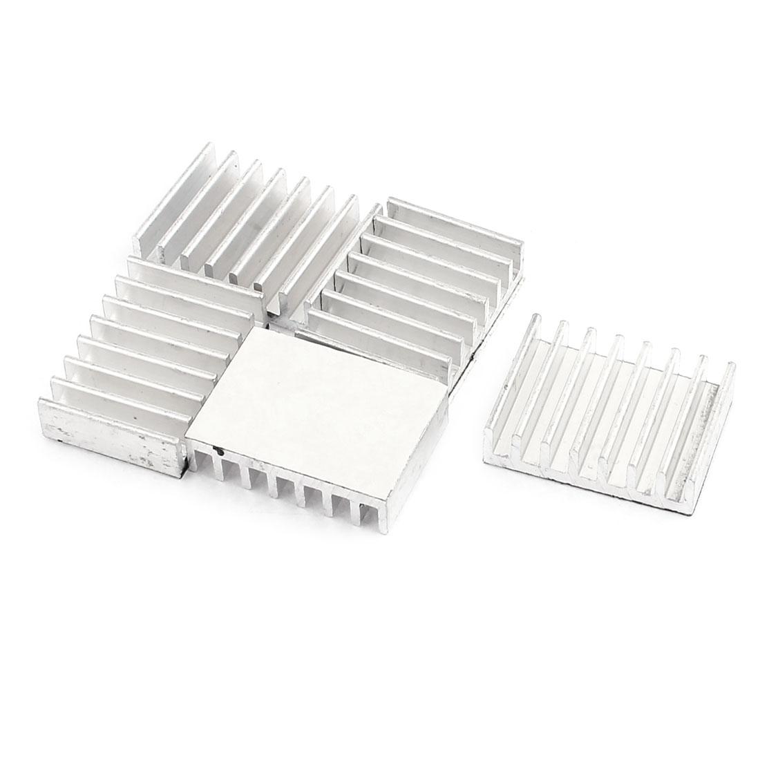 22 x 30 x 8mm Aluminum Heatsink Heat Sink Radiator Cooling Fin Silver Tone x5Pcs