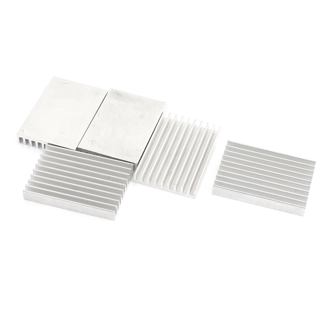 5 Pcs Aluminum Chipset Heatsink Cooling Fin 40 x 28 x 6mm for Power Transistor