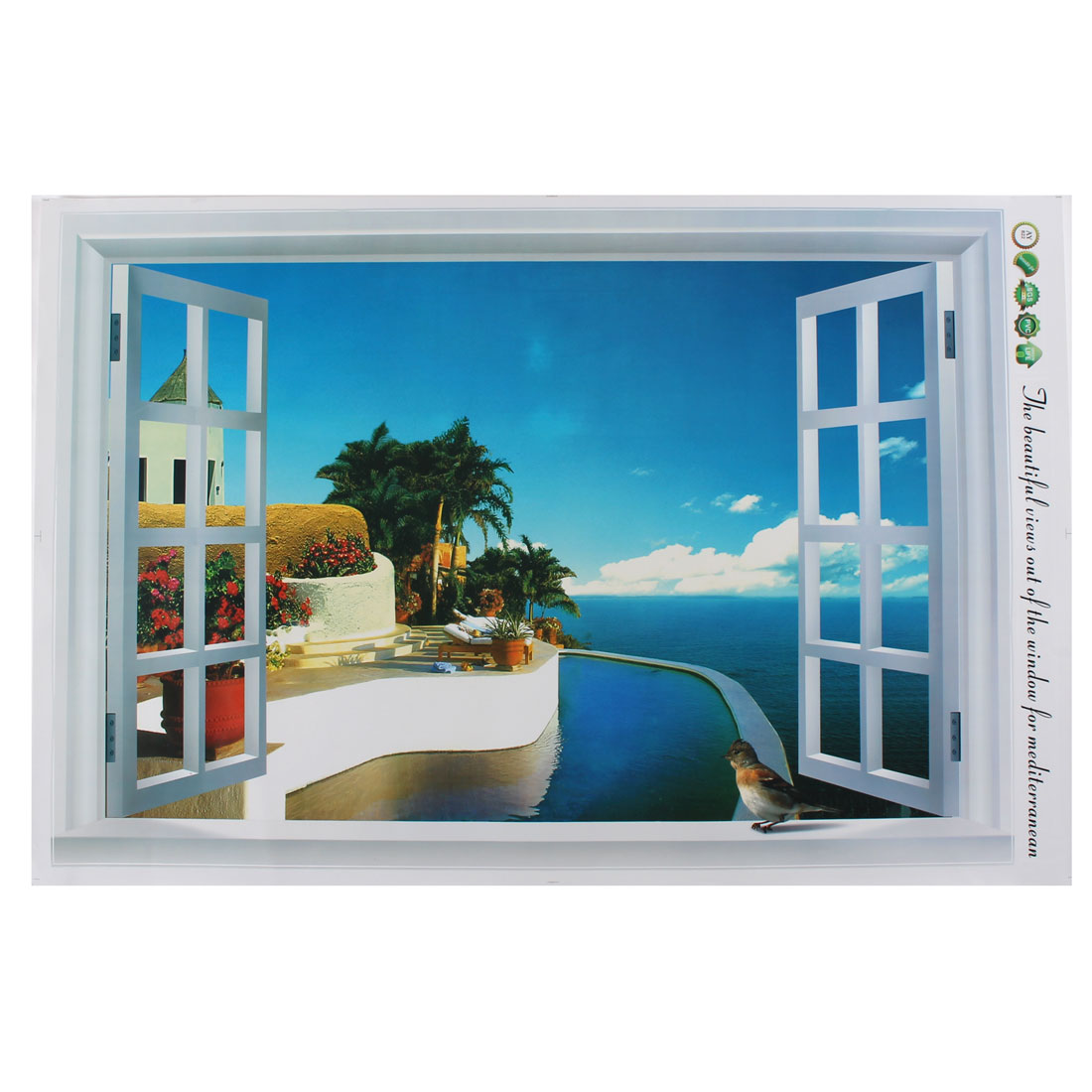 Home 3D Ocean Coast Scenery Pattern Art Decal Wall Sticker Mural Decoration