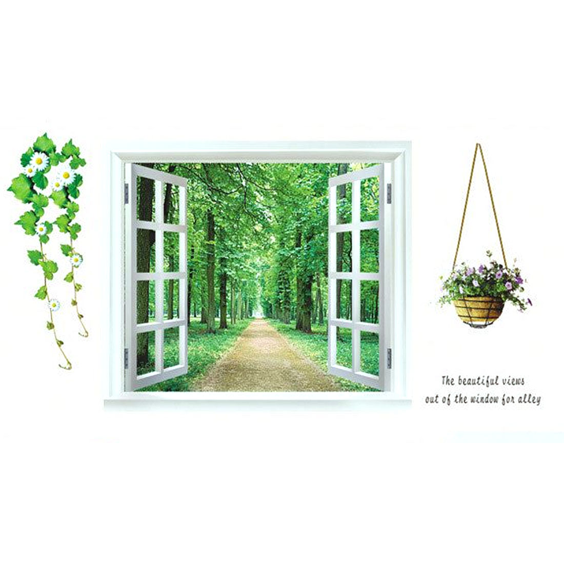 Home 3D Window Scenery Pattern Art Decal Wall Sticker Mural Decoration