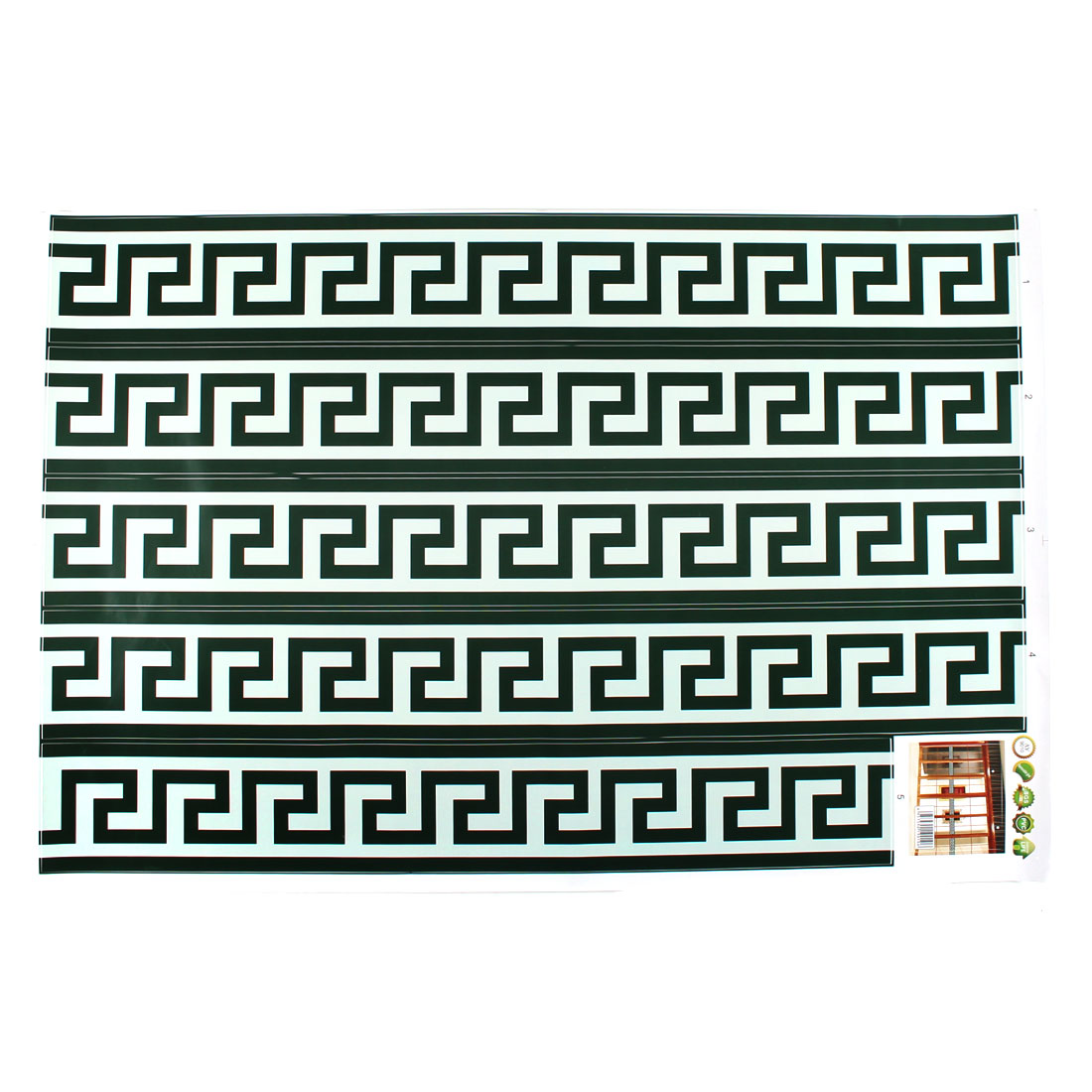 Living Room Window Labyrinth Print Removable Wall Sticker Wallpaper Mural