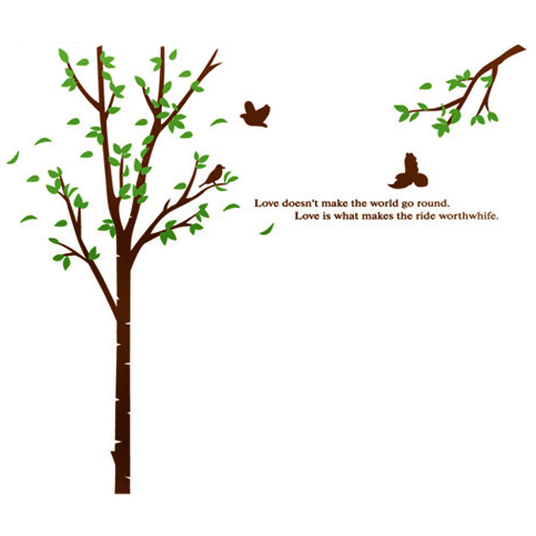 Household Living Room Tree Pattern Removable Wall Sticker Wallpaper Mural