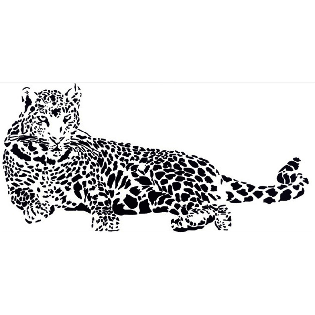 Household Living Room Leopard Pattern Removable Wall Sticker Wallpaper Mural