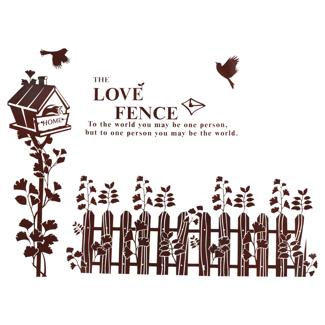 Fence Bird Cage Pattern PVC Removable Wall Sticker Art Mural Decal Wallpaper