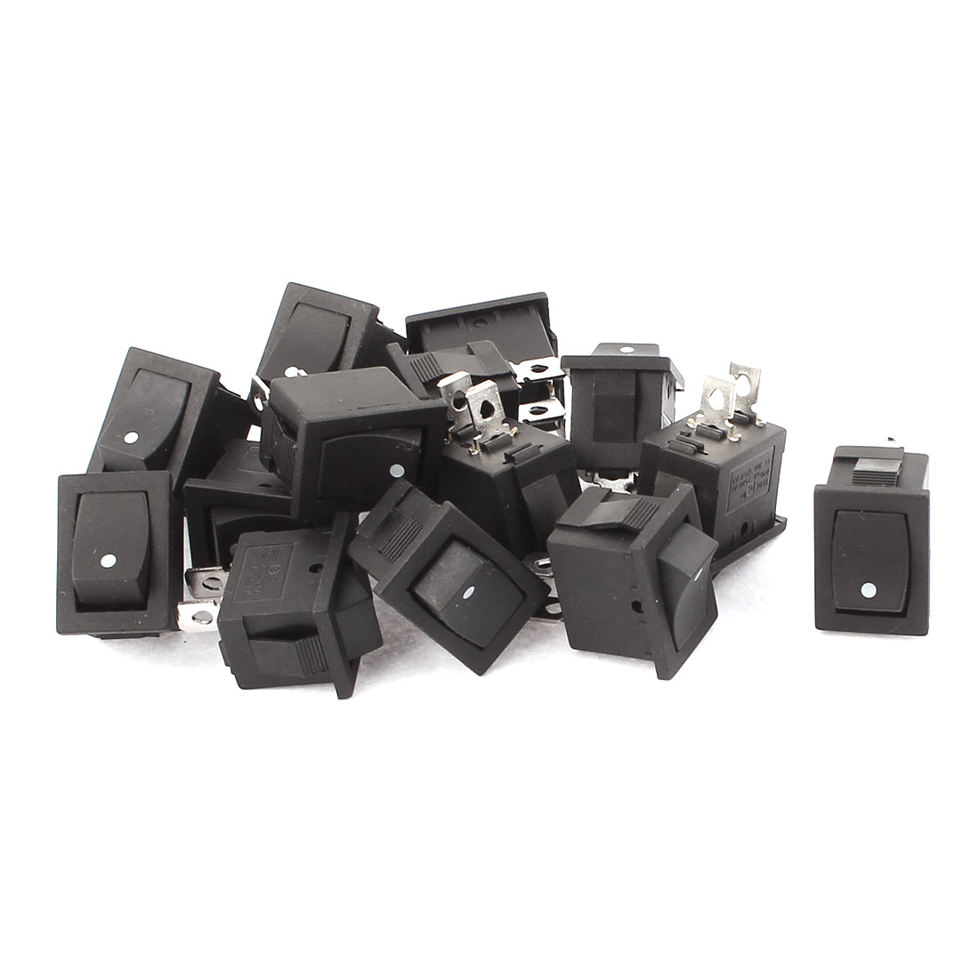 14 PCS AC125V 10A AC250V 6A Panel Mount Snap-In SPST I/O Rocker Switch KCD1-101