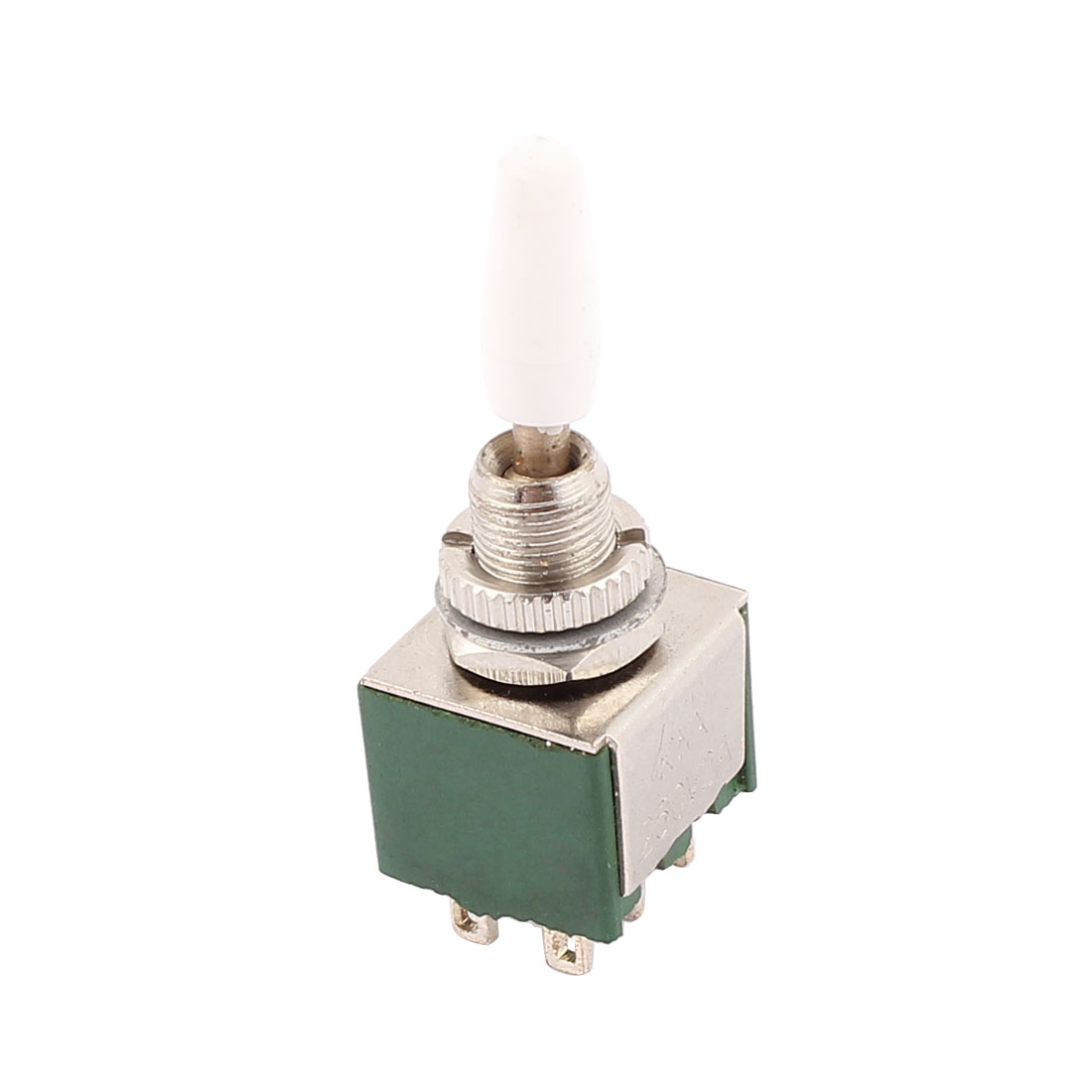 AC 250V 2A DPDT ON/ON 6 Terminals 2 Position Green Toggle Switches