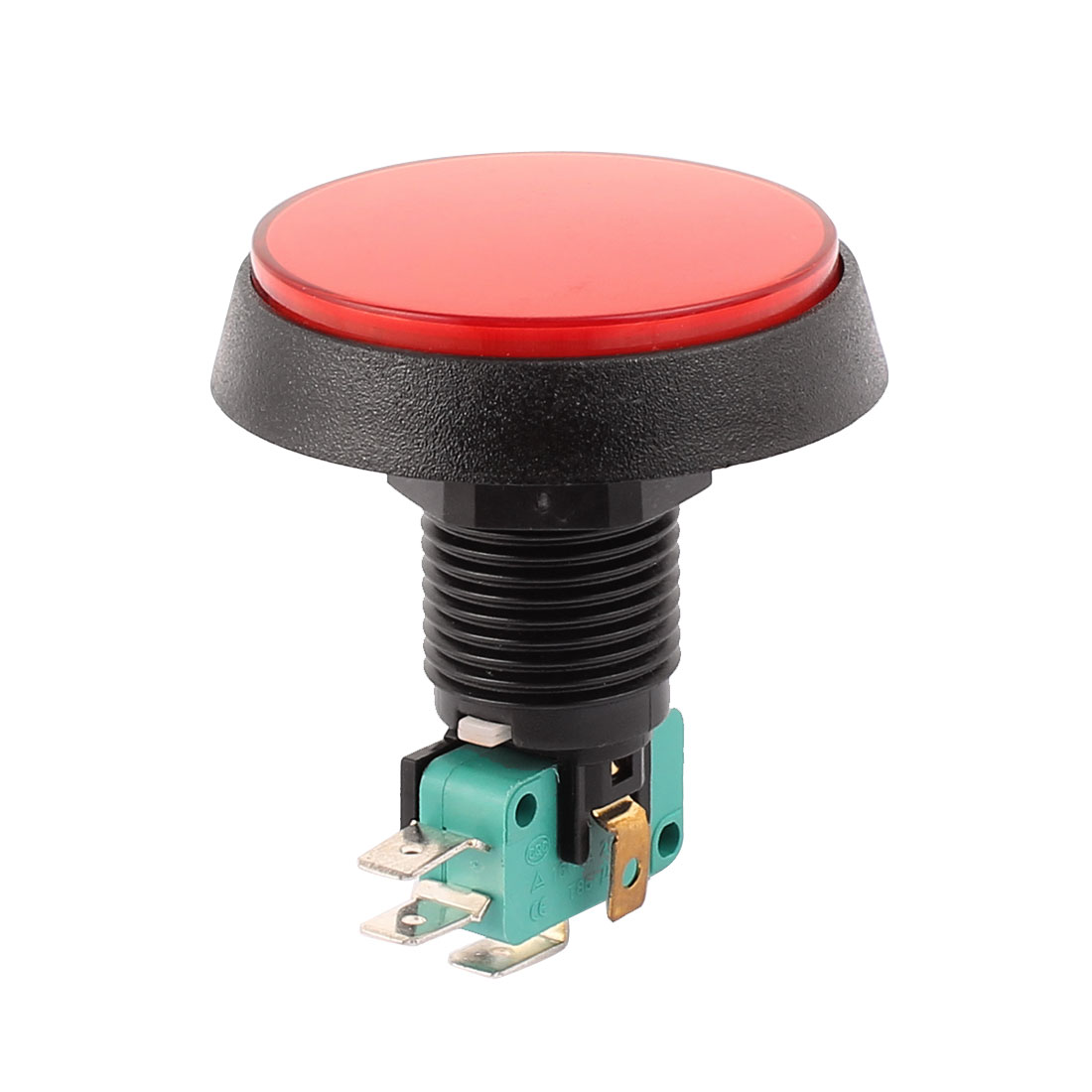 AC250V/16A 125V/15A 24mm Panel Mount Red Light SPDT Momentary Push Button Switch