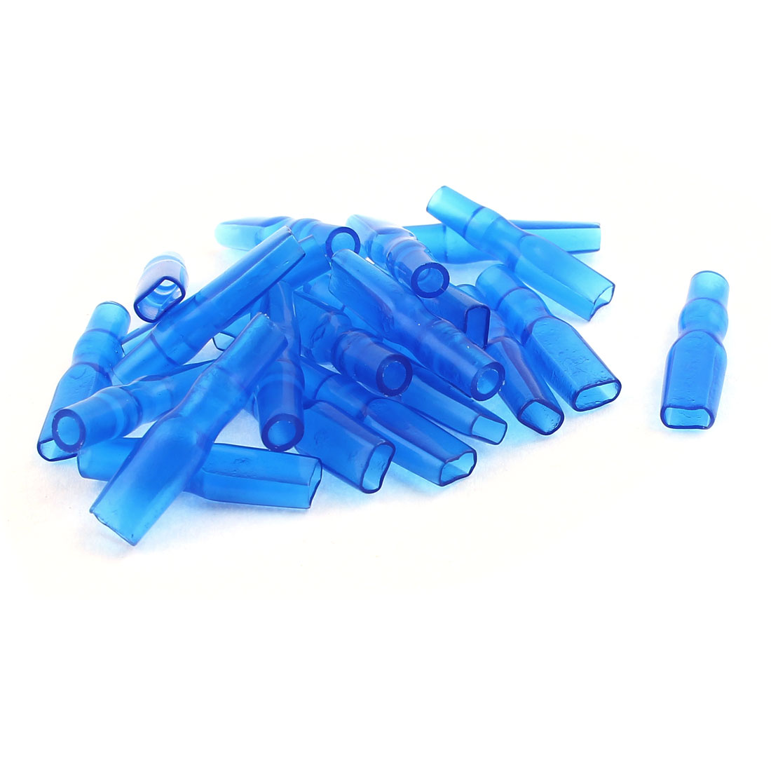 20 Pcs 2.8mm Female Spade Wire Terminal Connector Insulated Cap Sleeve Cover Blue