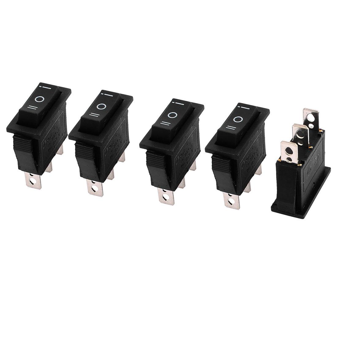 5 Pcs AC125V 20A AC250V 15A Panel Mount Snap-In SPDT On/Off/On Rocker Switch