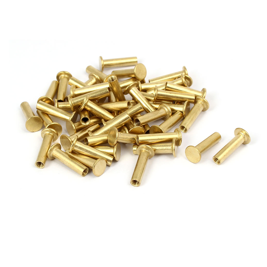 Photo Album Metal Brass Plated Binding Screw Post Barrel Nut 5mmx20mm 50pcs