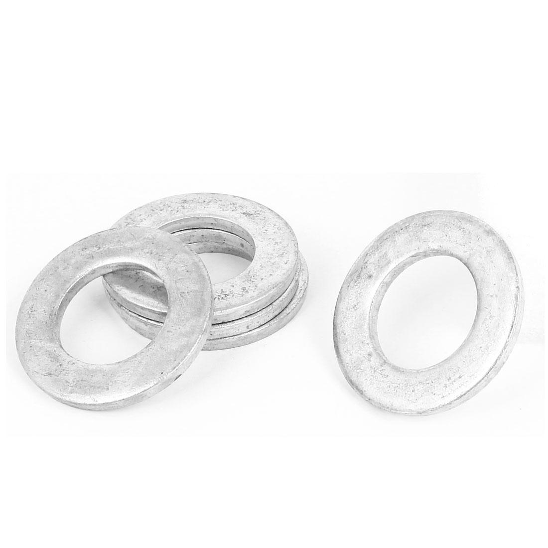 24mm x 44mm x 3.9mm Zinc Plated Flat Pads Washers Gaskets Fasteners GB97 5PCS