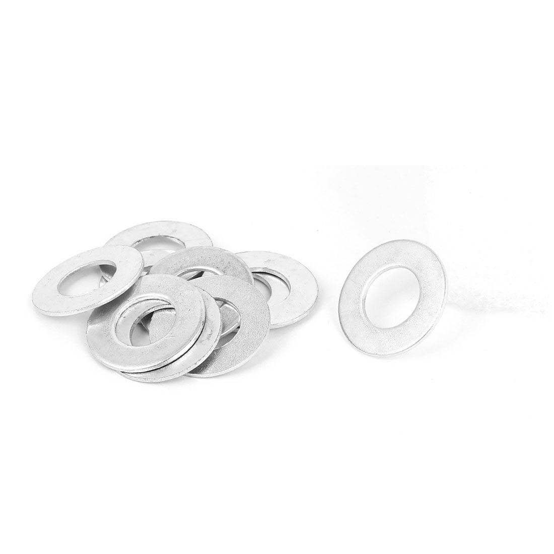 10mm x 20mm x 1mm Zinc Plated Flat Spacers Washers Gaskets Fasteners GB97 10PCS